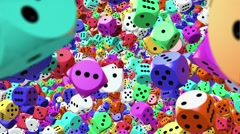 Dice in different colors Stock Footage