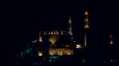New Mosque at night Stock Footage