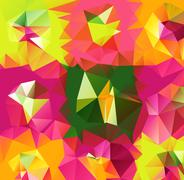 Triangle background. Pattern of geometric shapes - stock illustration