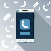 Smartphone call and sends message Stock Illustration