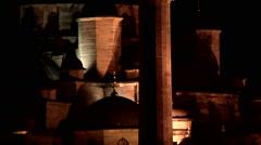 Yeni Cami by night, Istanbul, Turkey Stock Footage