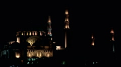 Mosque at night Stock Footage