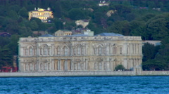 Dolmabahce Palace located in Bosphorus strait, Istanbul, Turkey Stock Footage