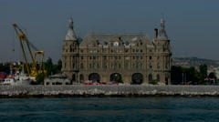 Haydarpasa Central station building Istanbul Turkey Stock Footage
