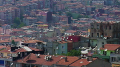 Terraced housing in suburb near Istanbul Stock Footage
