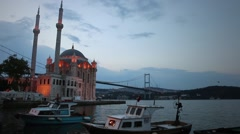Istanbul Ortakoy Mosque timelapse - stock footage