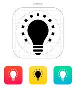 Less light icon. Vector illustration Stock Illustration