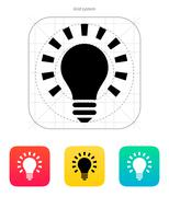 More light icon. Vector illustration Stock Illustration