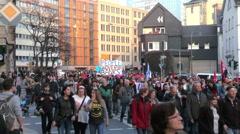 Blockupy 2015 - Frankfurt, Germany Stock Footage