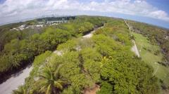 Aerial Miami Open tennis tournament Stock Footage