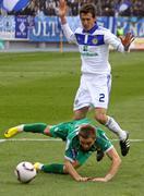 Danilo Silva of Dynamo Kyiv and Oleh Holodyuk of Karpaty Lviv Stock Photos