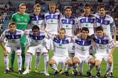 FC Dynamo Kyiv team pose for a group photo Stock Photos