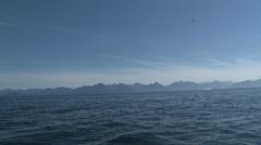 Southeast Alaska shot from boat Stock Footage