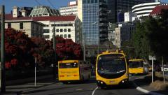 Go electric trolley bus, Wellington, New Zealand Stock Footage