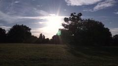 English Summer Sunset Stock Footage