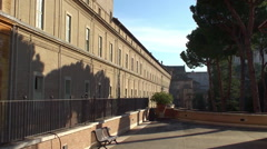 Building of the Long Gallery Vatican Museums. Stock Footage