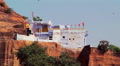 Whitewashed building at the Mehrangarh Fort, Jodhpur, India Footage