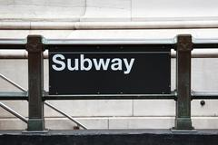Subway entrance in manhattan - New York - USA Kuvituskuvat