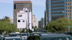 4K, UHD, Traffic jam in Westwood near UCLA, Los Angeles, California, BlackMagic Stock Footage