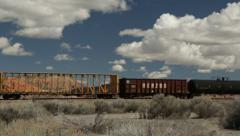 Freight Train in New Mexico Stock Footage
