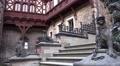 4k Stone sculptures panning medieval castle Harz mountains 4k or 4k+ Resolution