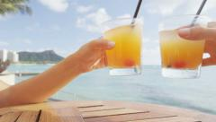 Alcoholic drinks beach bar party drinking friends Arkistovideo
