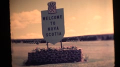 Stock Video Footage of Welcome to Nova Scotia, Bagpiper