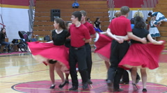 Square dancing competition Stock Footage