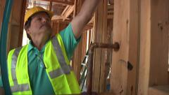 City inspector industrial designers corporate teamwork construction site work Stock Footage