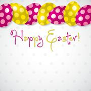 Bright Egg Happy Easter card in vector format. - stock illustration