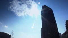 Pittsburgh Steel Building Silhouette Stock Footage
