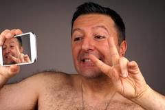 Mobile Phone Self-Timer Stock Photos