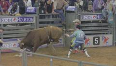 Bull Riding Event at a Rodeo 2 Stock Footage