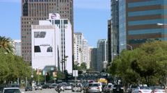 4K, UHD, Traffic jam in Westwood near UCLA, Los Angeles, California, BlackMagic Stock Footage