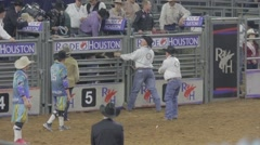 Bull Riding Event at a Rodeo 6 Stock Footage