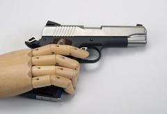 45  caliber handgun. Stock Photos