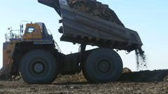 4K Stock Video Footage Mining Dump Truck huge dumper heavy track Stock Footage