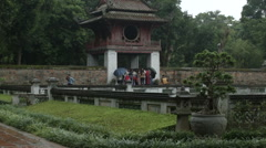 Constellation of Literature pavilion at the Temple of Literature Hanoi Vietnam Stock Footage