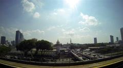 KUALA LUMPUR -  LRT sky train ride. Stock Footage