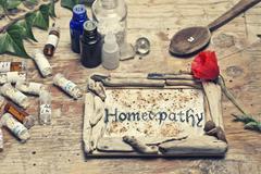 homeopathy - stock photo