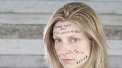 Woman violence rape abuse concept 4k Stock Footage