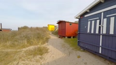 Tisvilde Beach in early spring, where the beach seems almost empty Stock Footage