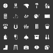 DIY tool icons on gray background Stock Illustration