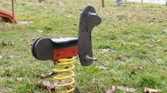 Kids Horse Toy Swinging Stock Footage