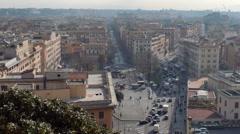 Piazza del Risorgimento. Rome, Italy. 1280x720 Stock Footage