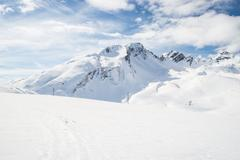 Majestic mountain peaks in the Alps Stock Photos