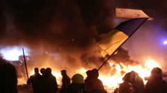 Stock Video Footage of UKRAINE, KIEV, JANUARY 19, 2014 revolution