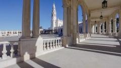 Sanctuary of Fatima, Portugal. Panning of Basilica of Our Lady of the Rosary Stock Footage