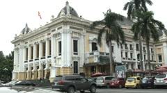 The Hanoi Opera House in Hanoi Vietnam Stock Footage