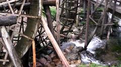Old Water Wheel. Zhangjiajie. China. Stock Footage